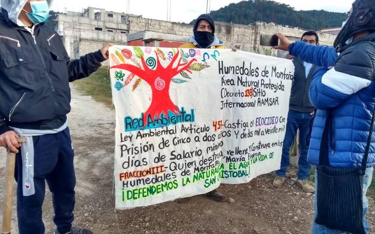 Aboga ONG global por los defensores del Valle de Jovel