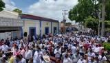 Ciudadanos en Berriozabal asistiendo a escuchar a Mario Delgado/ Foto: Isai López | El Heraldo de Chiapas