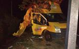 Así quedó la unidad tras sufrir el accidente carretero. / Foto: | Diario del Sur
